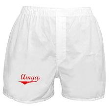 Amya Vintage (Red) Boxer Shorts