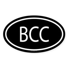 BCC Oval Decal