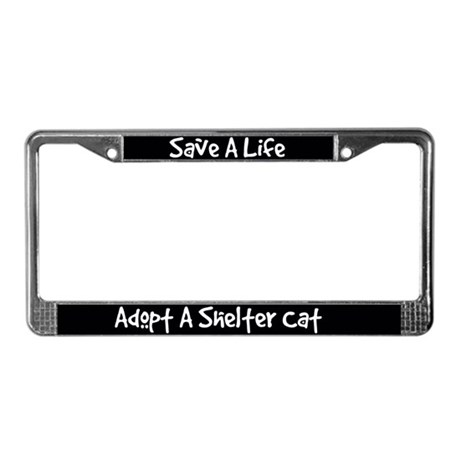 Adopt A Cat License Plate Frame