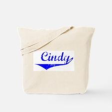 Cindy Vintage (Blue) Tote Bag