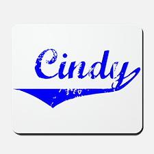 Cindy Vintage (Blue) Mousepad