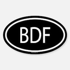 BDF Oval Decal