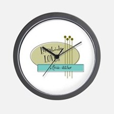 Everybody Loves a Cross stitcher Wall Clock