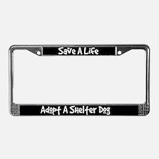 Adopt A Dog License Plate Frame