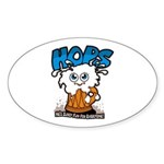 HOPS - sudsy fun for everyone Oval Sticker