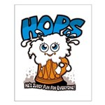 HOPS - sudsy fun for everyone Small Poster