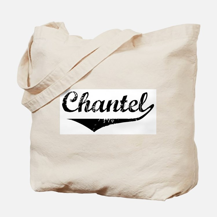 Chantel Vintage (Black) Tote Bag