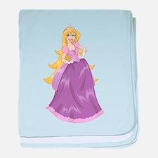 Princess Peach In Pink Dress baby blanket