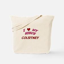 I Love My Niece Courtney Tote Bag