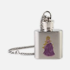 Princess Peach In Pink Dress Flask Necklace