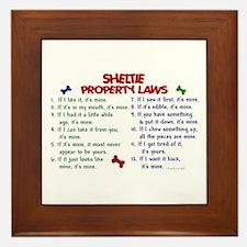 Sheltie Property Laws 2 Framed Tile