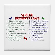 Sheltie Property Laws 2 Tile Coaster