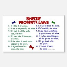 Sheltie Property Laws 2 Rectangle Decal