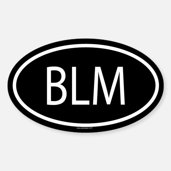 BLM Oval Bumper Stickers