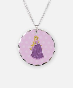 Princess Peach In Pink Dress Necklace
