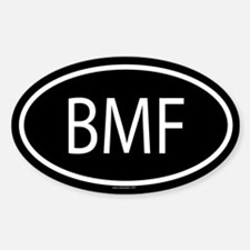 BMF Oval Bumper Stickers