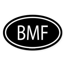 BMF Oval Decal