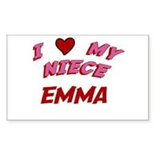 I Love My Niece Emma Rectangle Decal