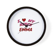 I Love My Niece Emma Wall Clock