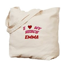 I Love My Niece Emma Tote Bag
