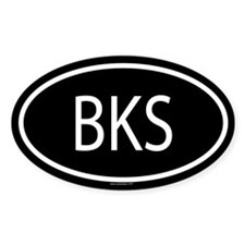 BKS Oval Decal