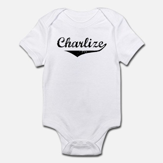 Charlize Vintage (Black) Infant Bodysuit