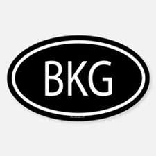 BKG Oval Decal