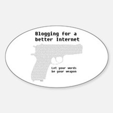 Blog for a better Internet Oval Decal
