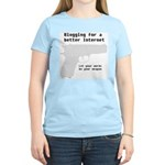 Blog for a better Internet Women's Pink T-Shirt