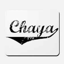 Chaya Vintage (Black) Mousepad
