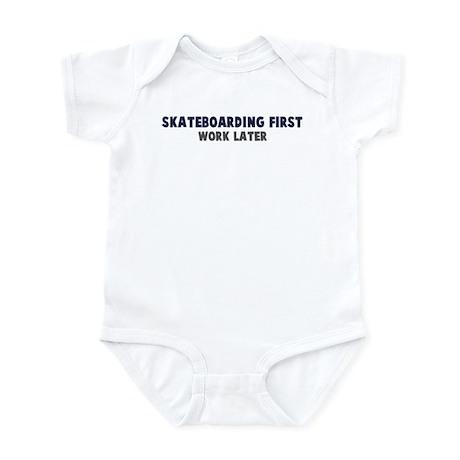 Skateboarding First Infant Bodysuit