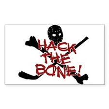 HOCKEY - hack the bone Rectangle Bumper Stickers