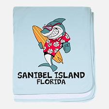 Sanibel Island, Florida baby blanket