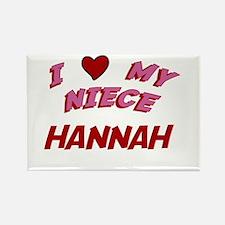 I Love My Niece Hannah Rectangle Magnet