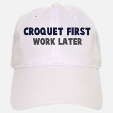 Croquet First Baseball Baseball Cap