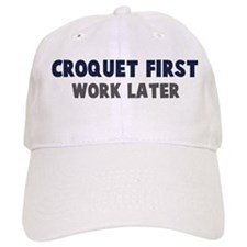 Croquet First Baseball Cap