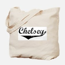 Chelsey Vintage (Black) Tote Bag