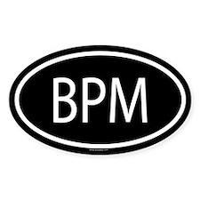 BPM Oval Decal