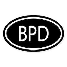 BPD Oval Decal