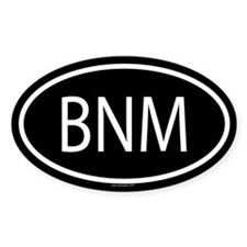 BNM Oval Decal
