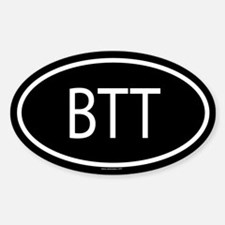 BTT Oval Decal