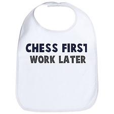 Chess First Bib