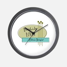 Everybody Loves a Costume Designer Wall Clock