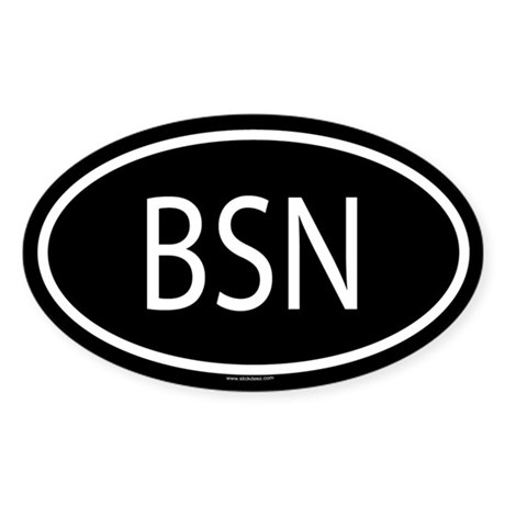 BSN Oval Sticker