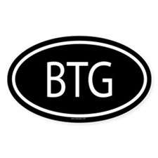 BTG Oval Decal