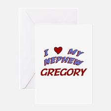 I Love My Nephew Gregory Greeting Card