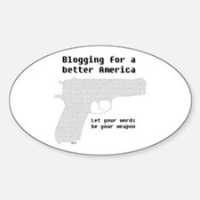Blogging for a better America Oval Decal