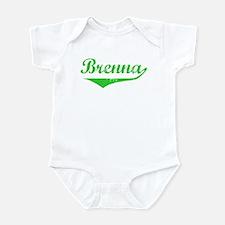 Brenna Vintage (Green) Infant Bodysuit