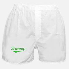 Brenna Vintage (Green) Boxer Shorts