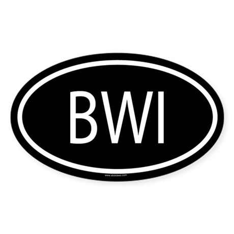 BWI Oval Sticker
